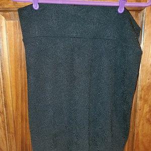 Lularoe EUC L black pencil skirt